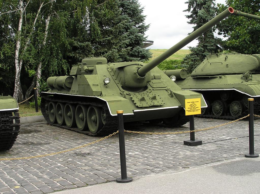 SU-100 at the Museum of the Great Patriotic War, Kiev, Ukraine