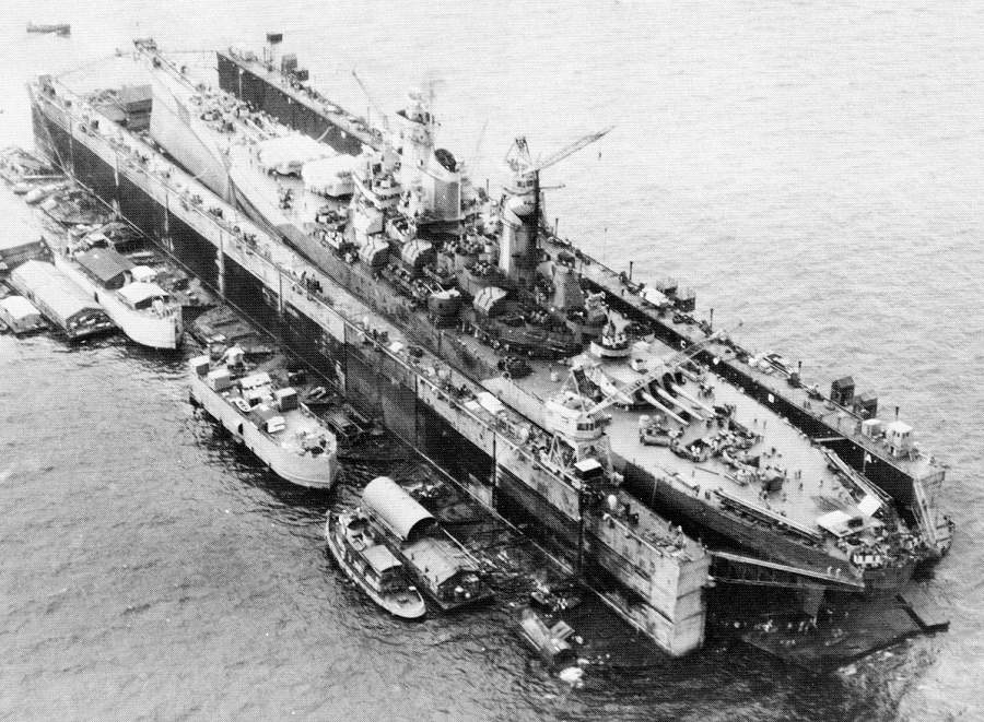 WW2 floating dry dock