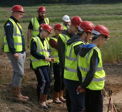 Archaeological Works Site Visits Five Towns Park, Castleford
