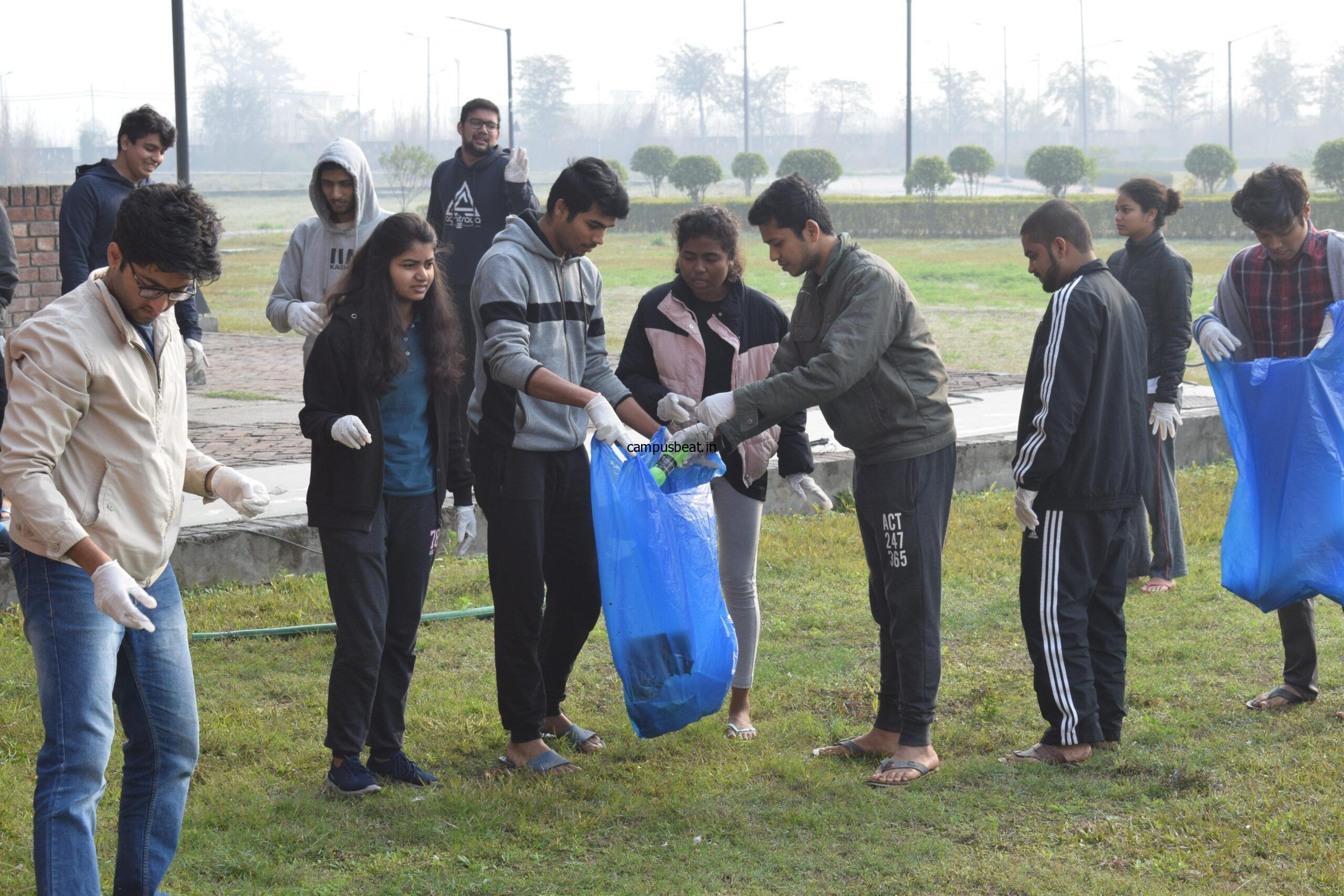 Cleanliness Drive at IIM Kashipur