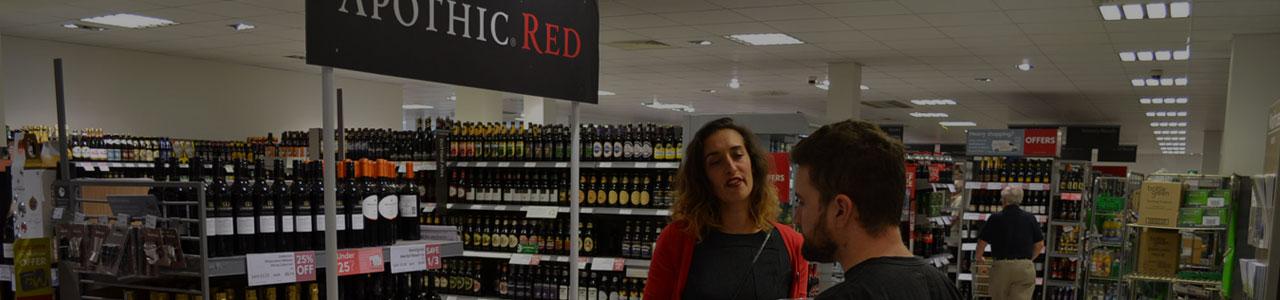 In-store sampling vs. outside sampling at supermarkets
