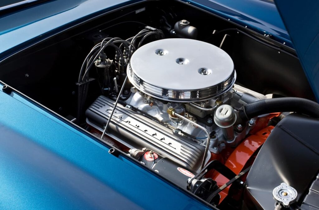 1959 Scaglietti Corvette Nº2, con el motor V8 del Corvette en sus tripas