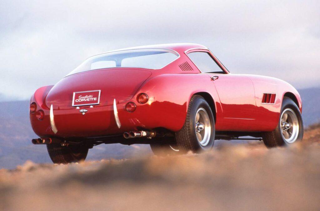 1959 Scaglietti Corvette Nº3, muy en línea con los anteriores pero ahora con las típicas salidas de aire en las aletas delanteras al estilo Ferrari
