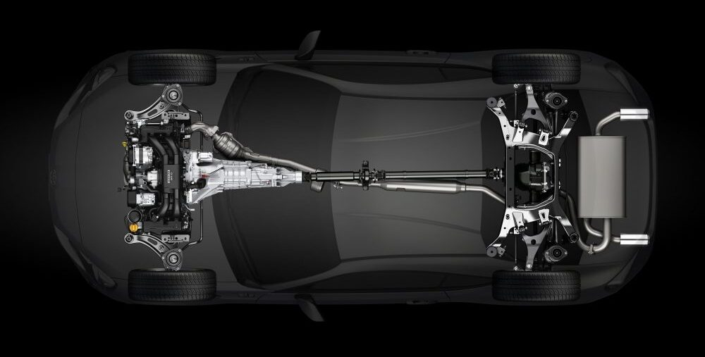 GT86 cutaway top view Toyota official