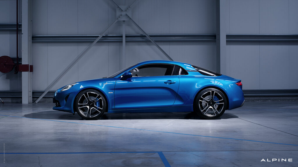 Alpine A110 Side Main Blue