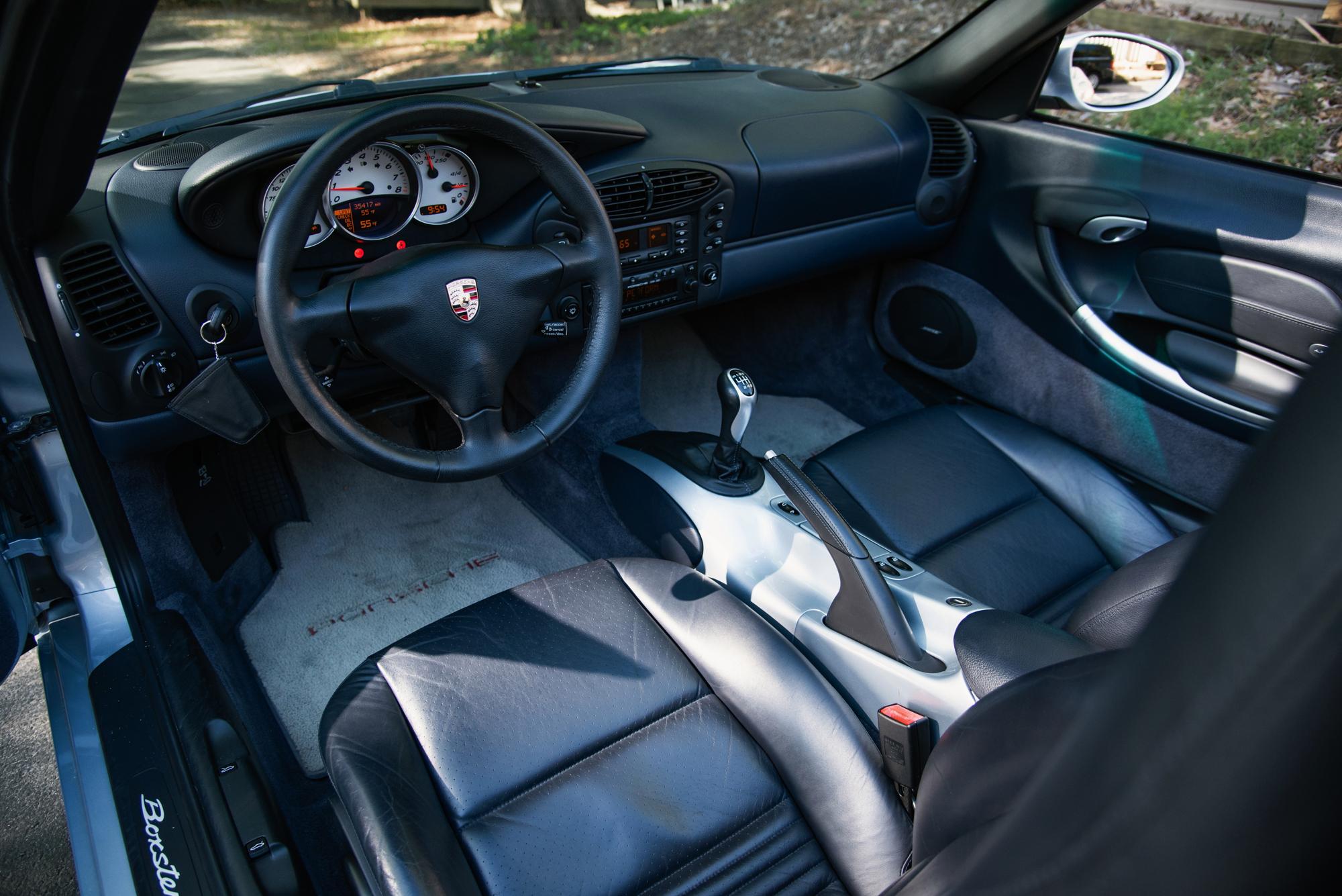 2002 Porsche Boxter S interior