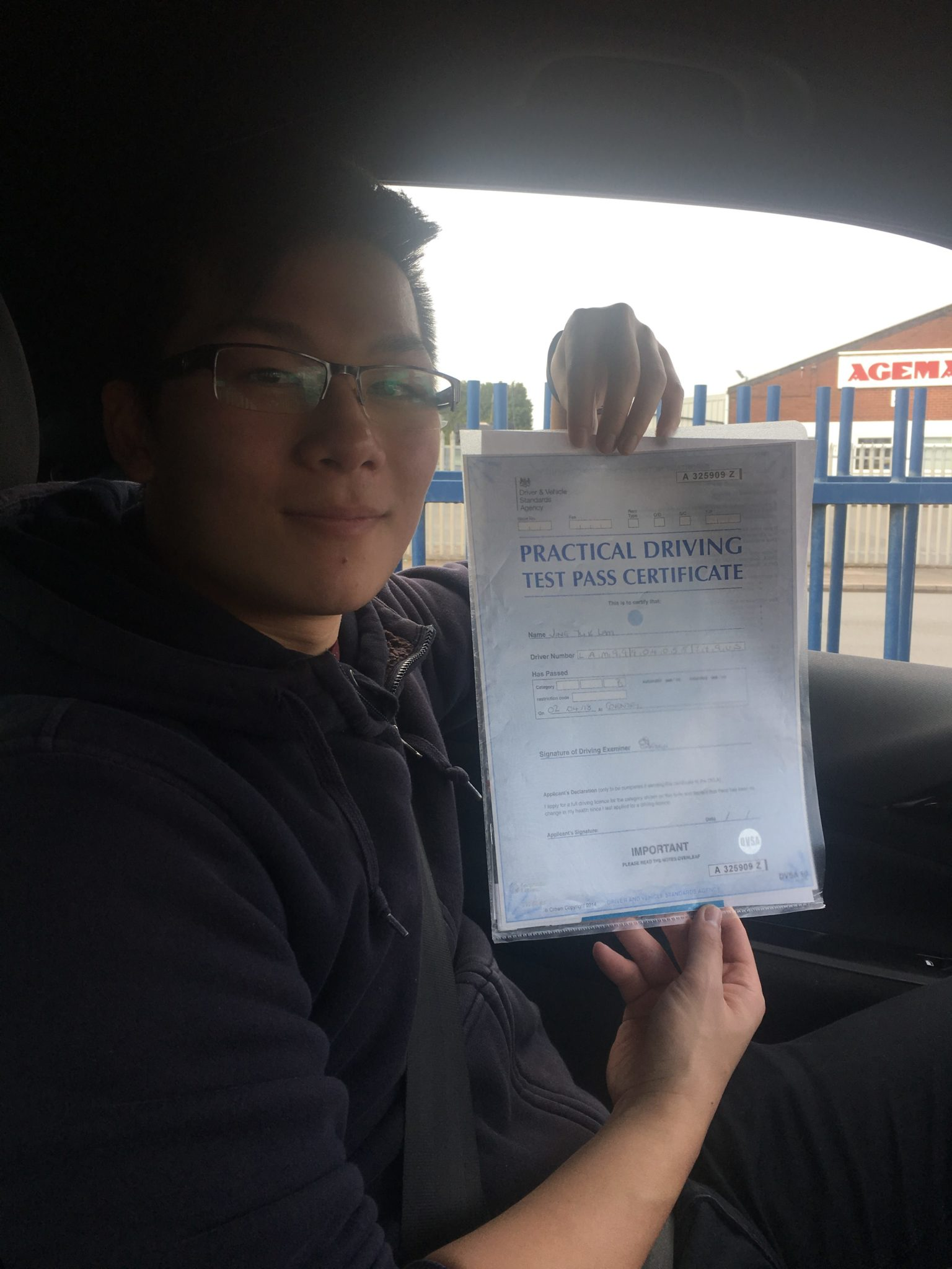 jing passed in Coventry