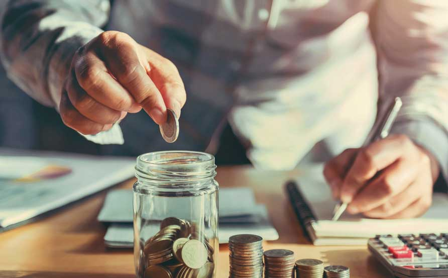 business man saving money through indirect procurment