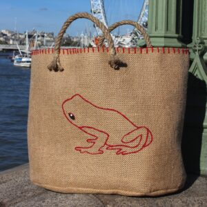 Grenouille Rouge: Sac Cabas Grenouille Rouge