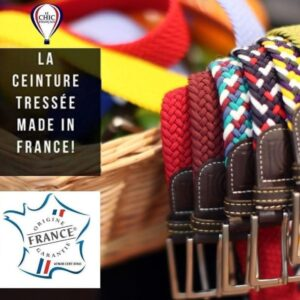 Ceintures tressées Made-in-France