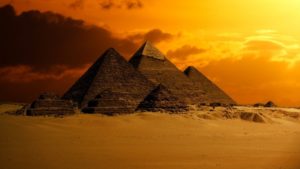 The Pyramids, used to represent longevity.
