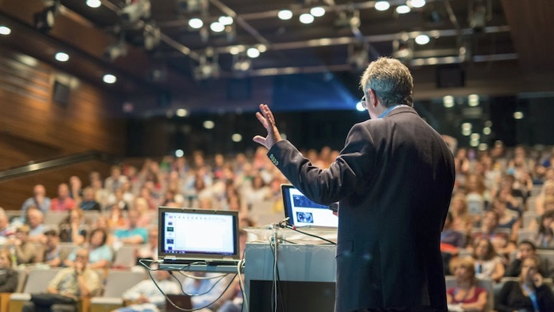 Live streaming a speaker at a conference