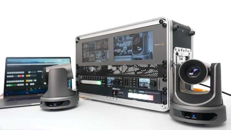 Live streaming rig with multiple cameras and video switcher