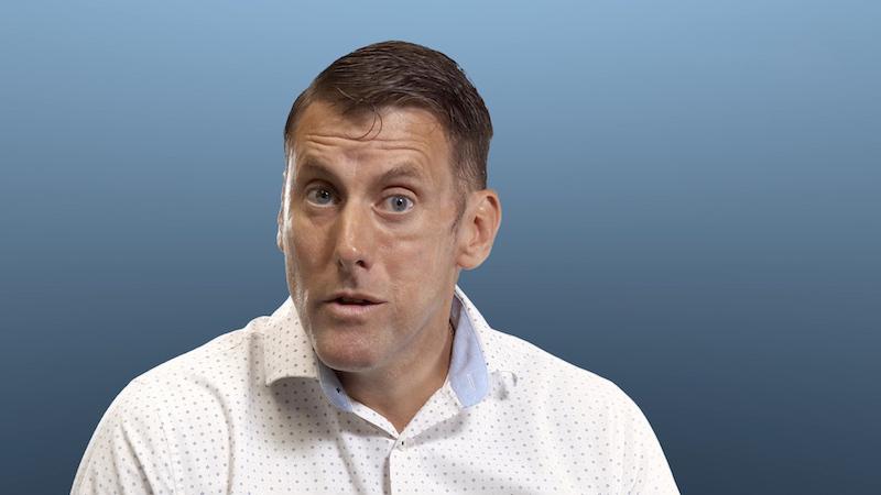 Still image from talking head video