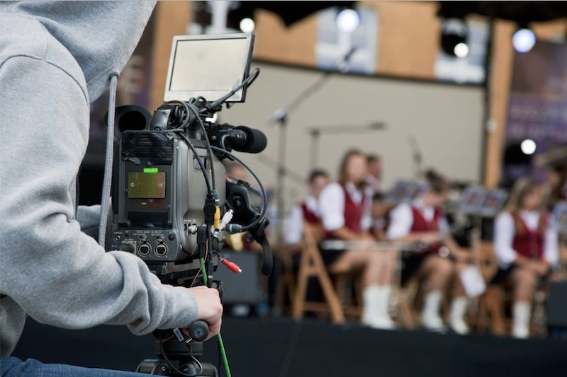 Filming or streaming of a school choir at an event or show