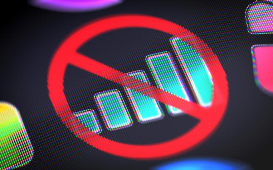 No 4G signal