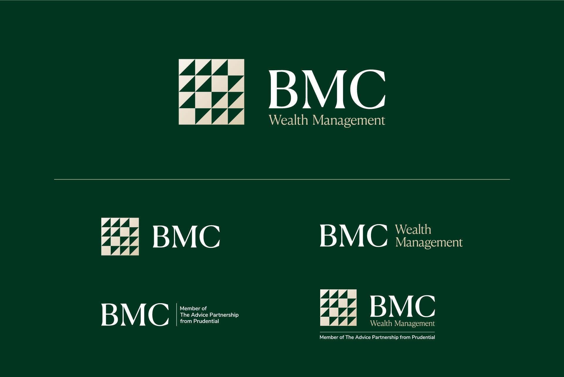 BMC Wealth Management brand identity logo system
