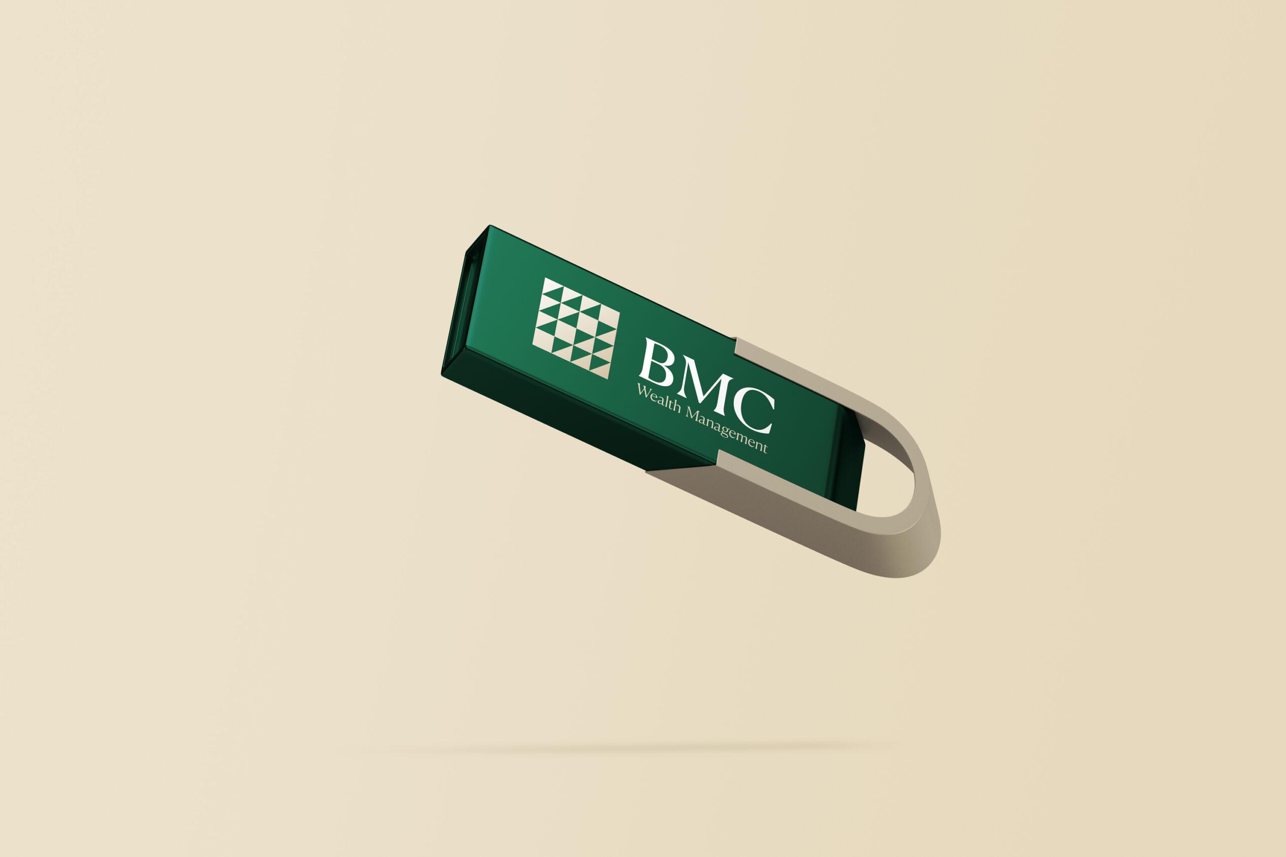 BMC Wealth Management branded USB disk