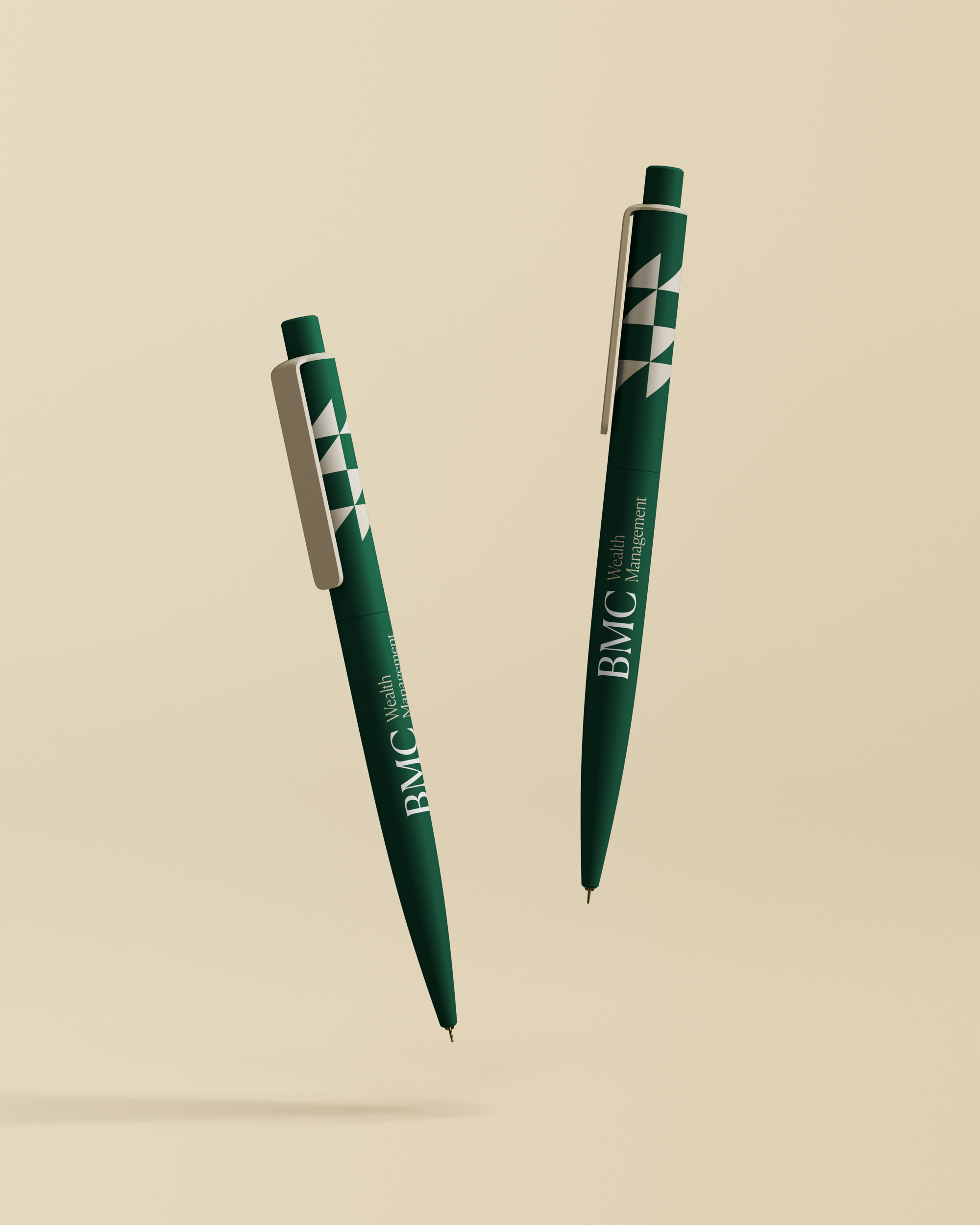 BMC Wealth Management branded pens