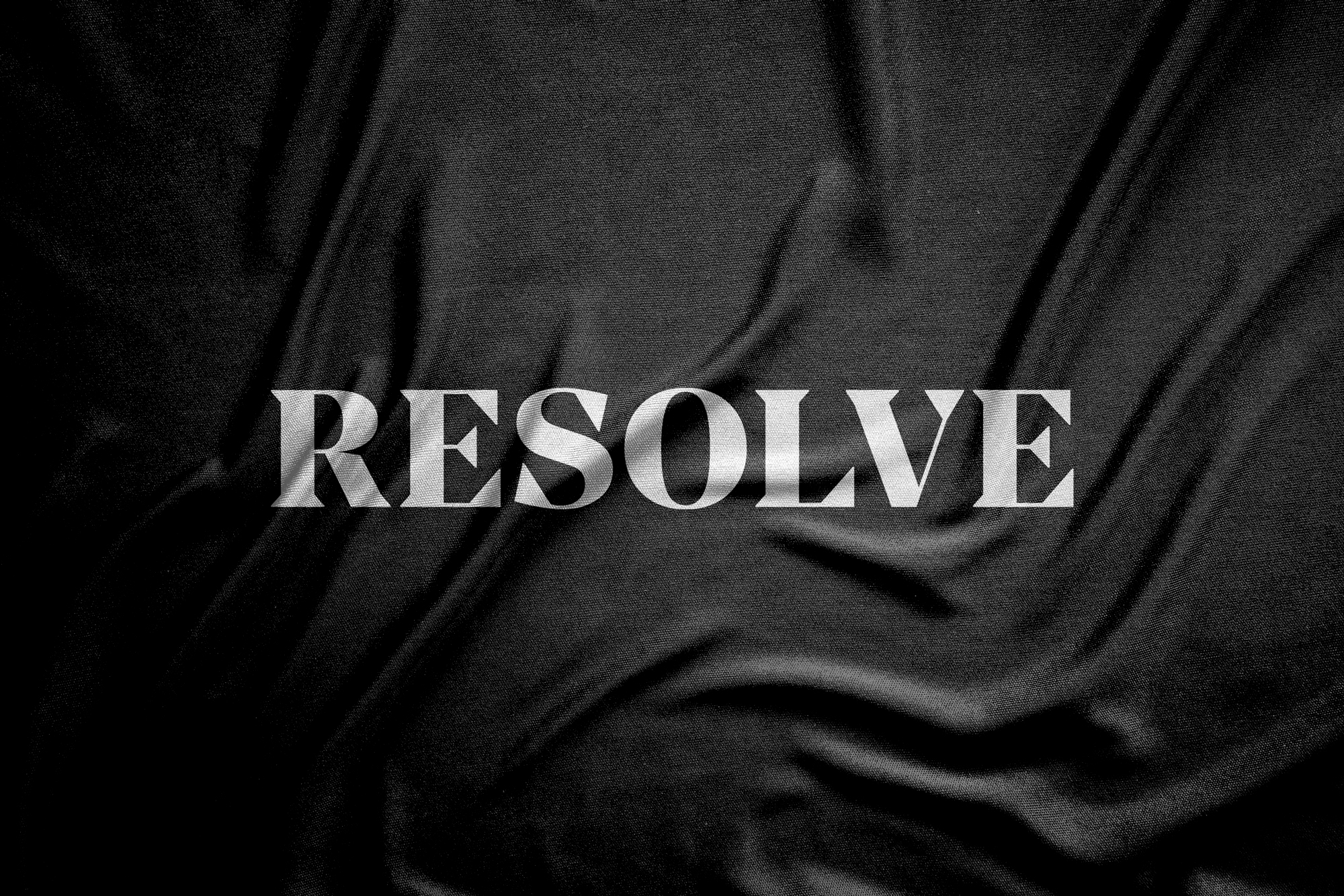 Resolve Clothing logo printed onto fabric
