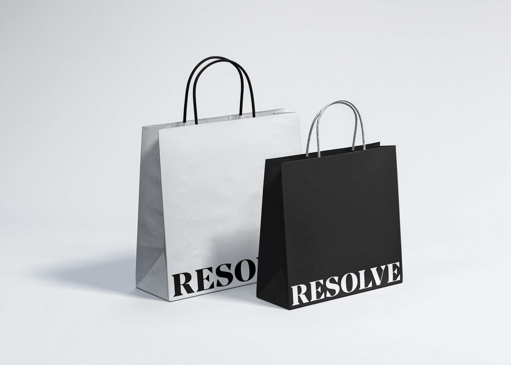 Resolve Clothing branded shopping bags