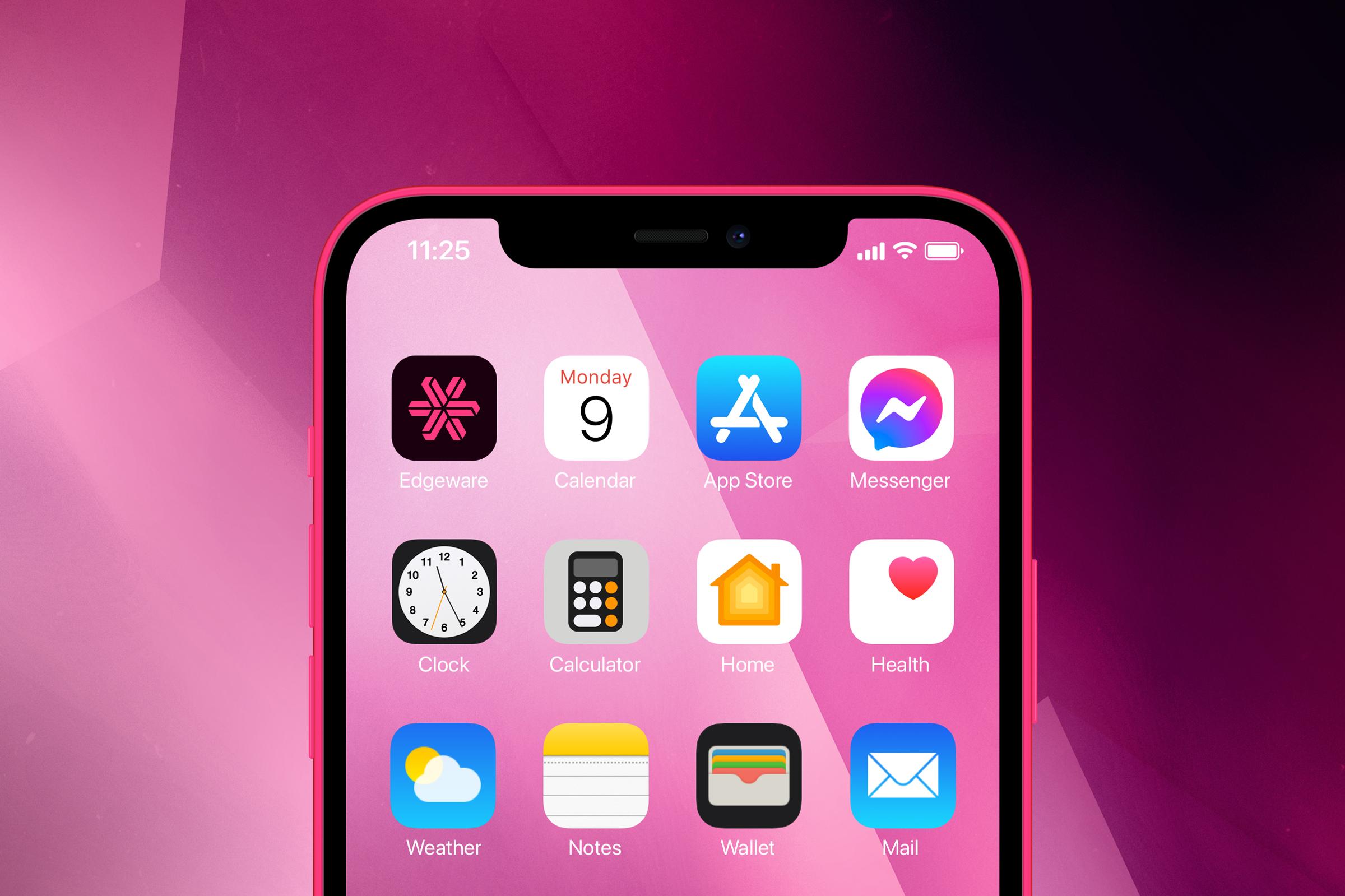 Edgeware iPhone iOS app screen visual