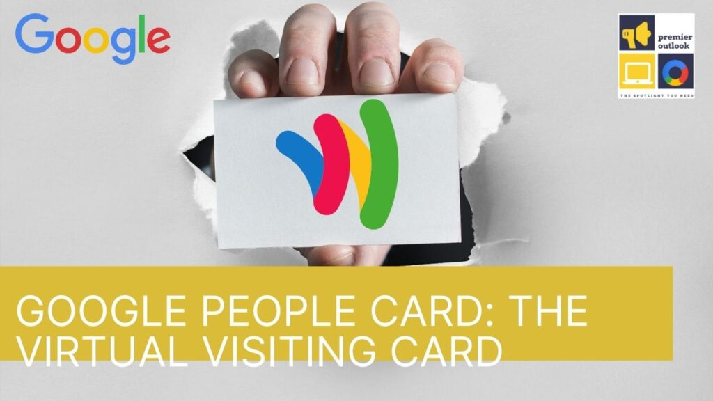 Google people card The virtual visiting card