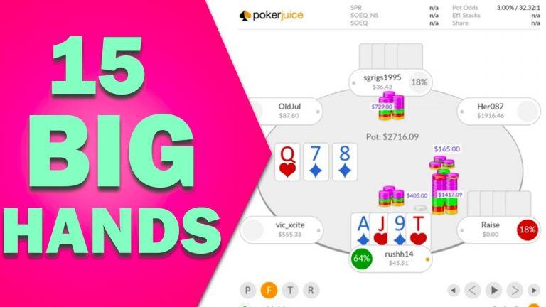 300+ Big Blind Pots Only! Pot Limit Omaha Cash Game Hands