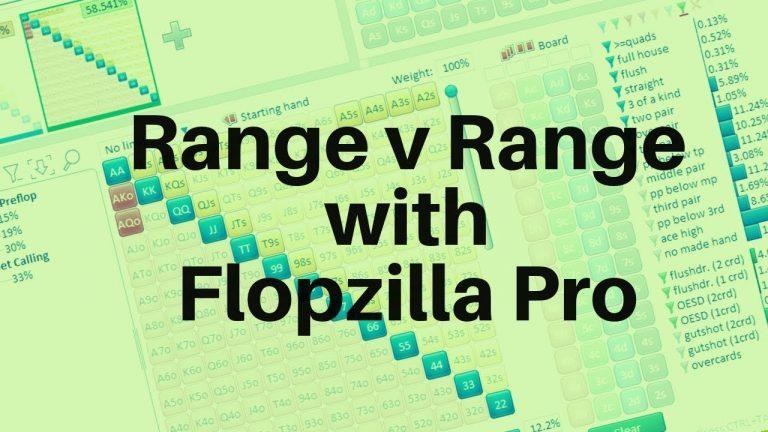 Poker range vs range equities with Flopzilla Pro