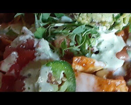 Live Salad Mukbang Eating Action No Talking