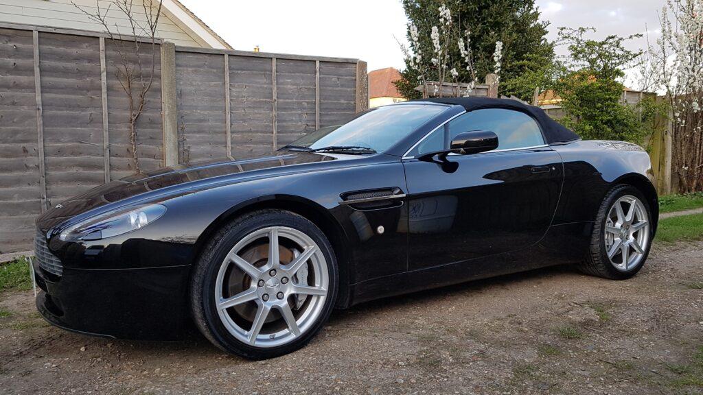 Aston Martin V8 Vantage fully corrected then ceramic coated