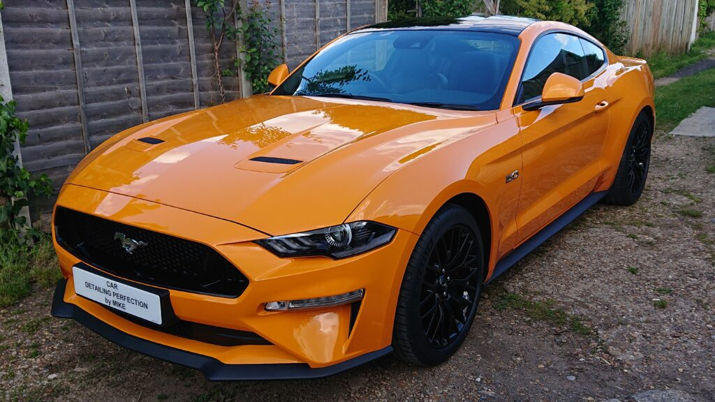 Ford Mustang new car prep package finished off with a ceramic coating