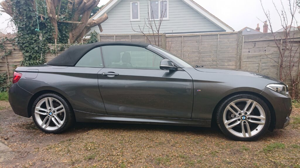 Bmw 2 series Vert corrected and waxed