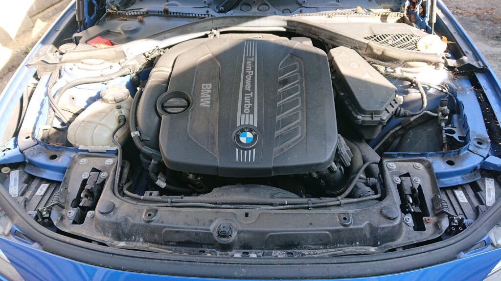 BMW dirty engine bay