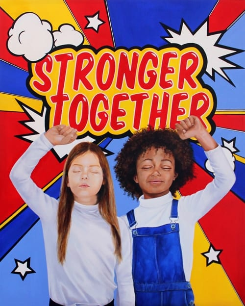 stronger together one of my artworks acrylic on canvas 2019