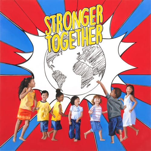 StrongerTogether - Covisian group project Corporate Art by Sabrina Rocca 2019
