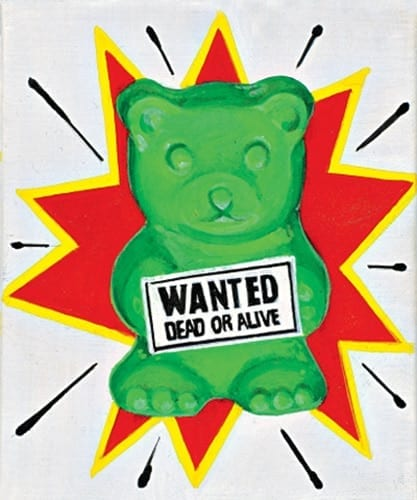 Wanted acrylic on canvas 2014 work to Imago Mundi project by Benetton Corporate