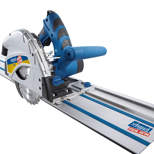 SCHEPPACH PL55 | 160mm Plunge Saw – with 2 x 700mm Rails, Rail Connector & Anti-Fall Over