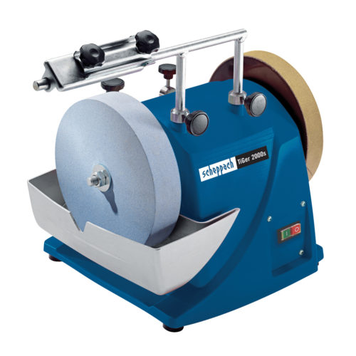 SCHEPPACH TIGER 2000S | 8″ Sharpening System – with Jig 70, Angle Guide & Abrasion Paste