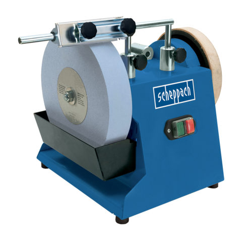 SCHEPPACH TIGER 2500 | 10″ Sharpening System – with Jig 70, Angle Guide & Abrasion Paste