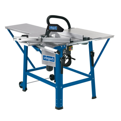 SCHEPPACH TS310 | 12″ Table Saw – with Sliding Table Carriage, 2 x Saw Blades, Table Length & Width Ext.
