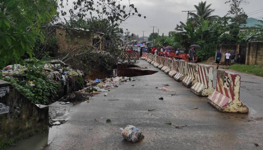 Ikpa road ravine worsens as residents lament threat to life
