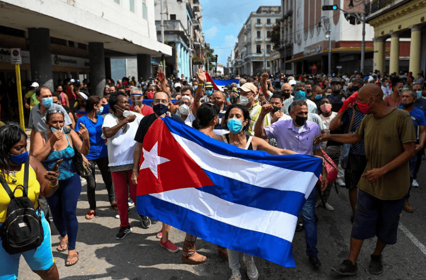 Thousands of Cubans join biggest protests for decades against island's Communist government