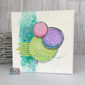nesting stamps, mixed media