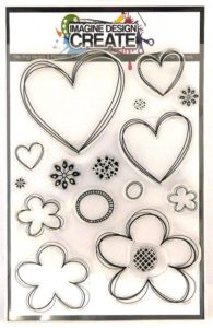 Nesting Hearts & Flowers A5 stamp set
