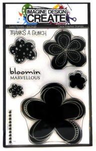 Solid Flower A6 clear polymer stamp set