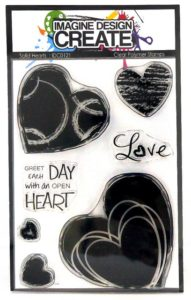 Solid Hearts A6 clear polymer stamps