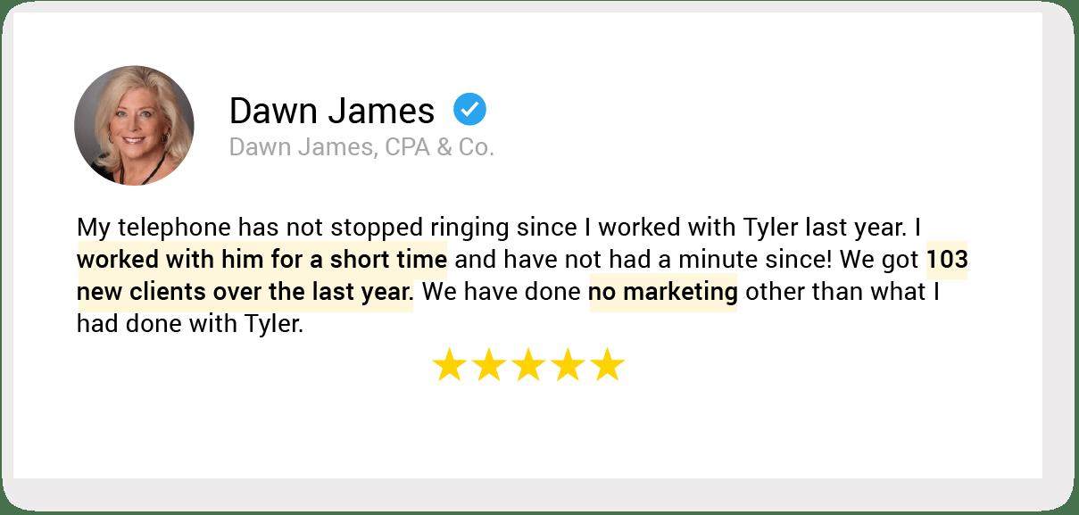 01. testimonial 12. Dawn James
