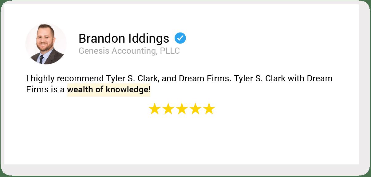 01. testimonial 16 Brandon Iddings