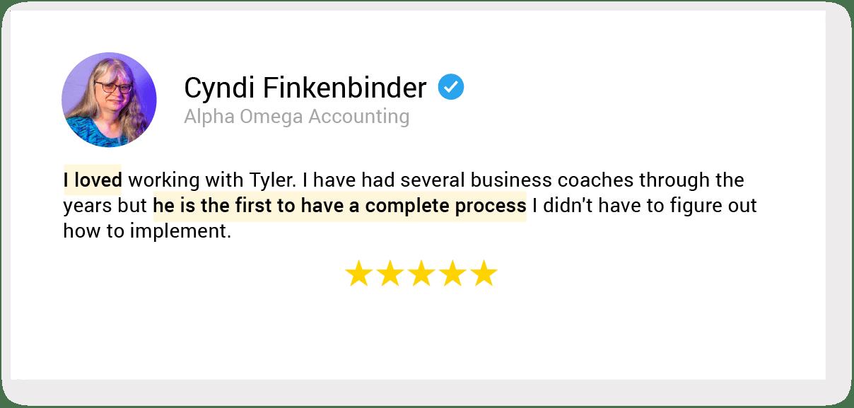 01. testimonial 40 Cyndi Finkenbinder